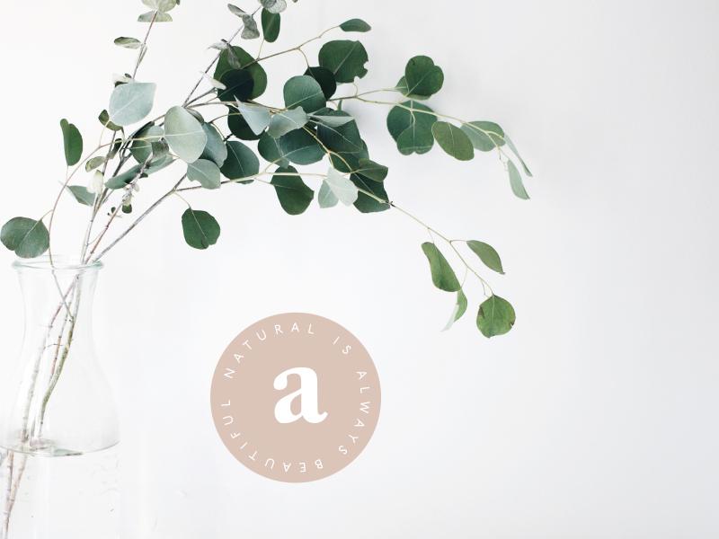 Ammil modern simple earthy typography branding logo mark