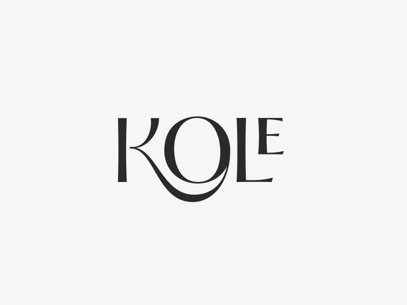 Kole Logo modern black typography branding logo mark