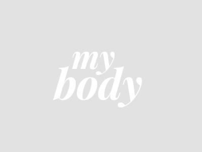 My Body Logo Design my body grey white wordmark serif typography logo design