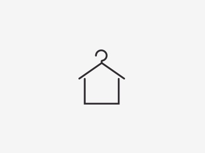 House Illustration white grey home hanger illustration