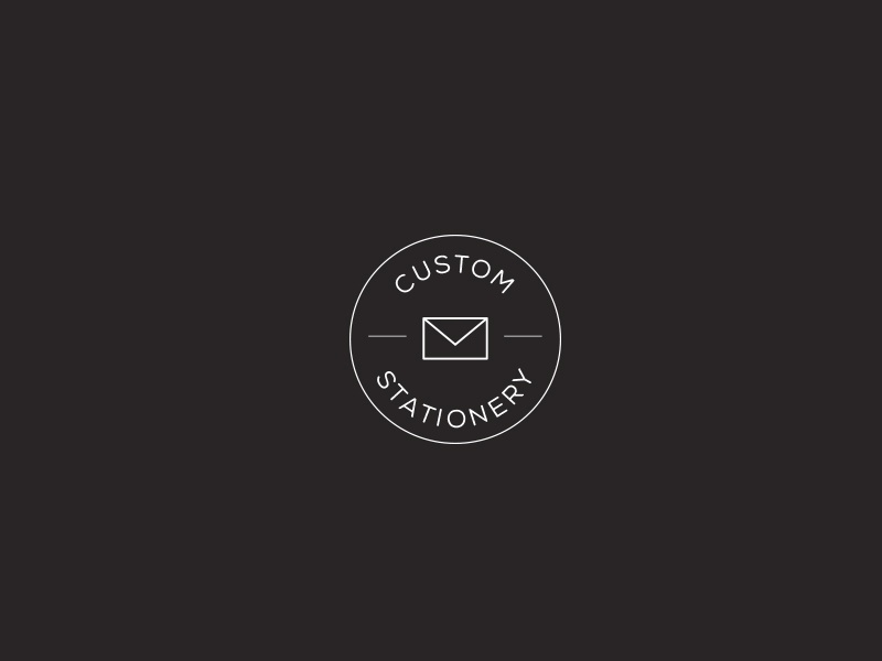 Imprimo Mark black clean type stationery typography branding secondary logo