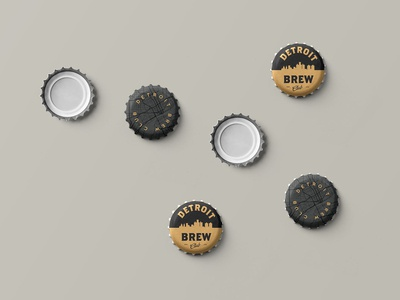Detroit Brew Club Bottle Caps
