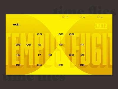 Calendar Iteration exploration calendar typography