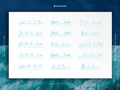 Vessel Style Sheet engineer blueprint identity line drawing illustration ships vessel