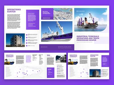 Trifold Brochure Design brochure ships layout branding
