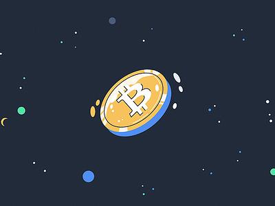 bitcoin coin bitcoin flat illustration