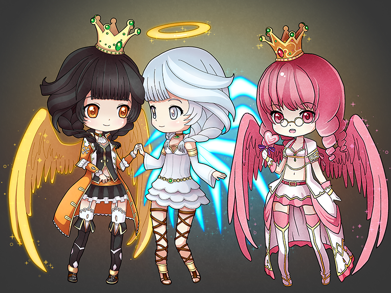 3 Chibi Character Commissions I Did On Eden Eternal An Online Game Used To Play