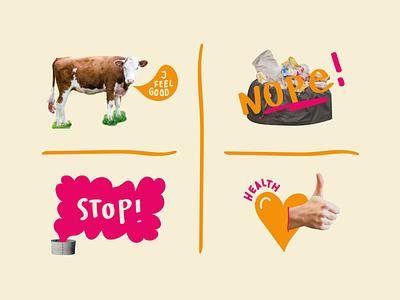plantbased food is good environment branding design illustraion vegetarian sustainable food plantbased veggie collages