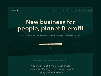 Landingpage – hero new business beige royal green dark green design typography branding planet startup landingpage hero consulting webdesign