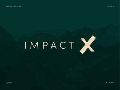 Logodesign – impact x planet beige royal green dark green x symbol logo branding design typography