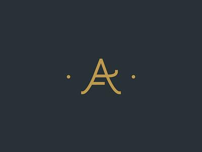 AF Monogram typography letter line symbol monogram logo af