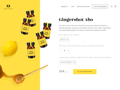 itchy ginger subscription product page