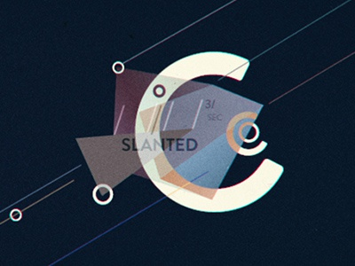 Slanted experiment illustration