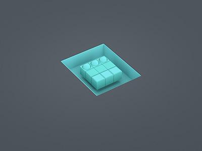 Shape 06 render 3d redshift simple shapes