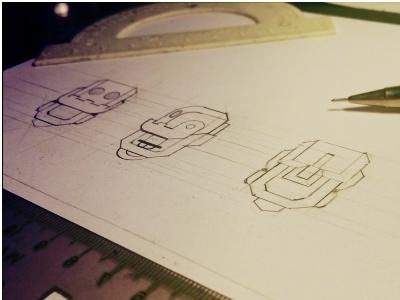 Robot character creation sketch by sergiu matei dribbble robot character creation sketch paper 2d art blueprint 2 malvernweather Gallery