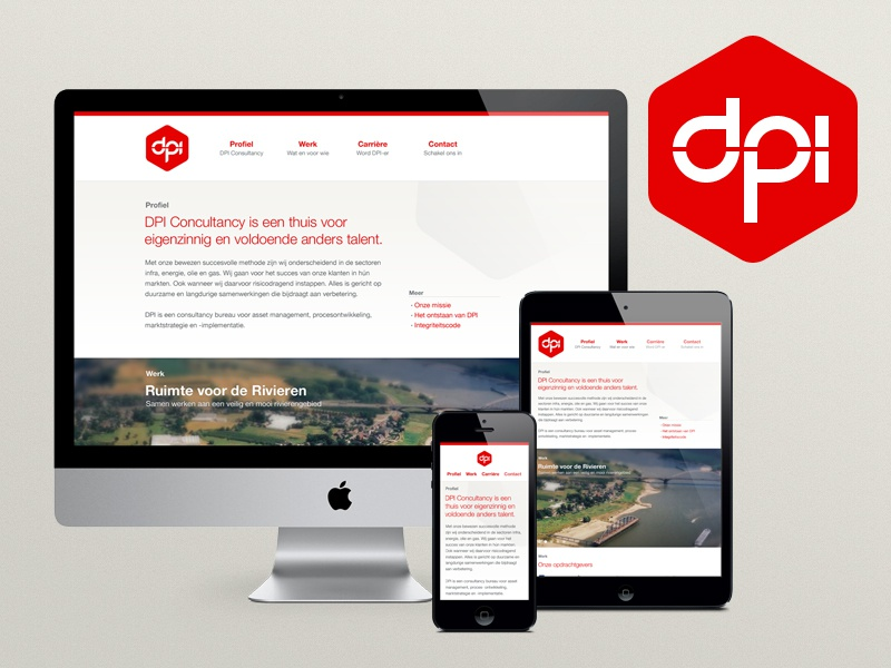 DPI Responsive Site logo responsive mobile tablet ipad iphone website hexagon