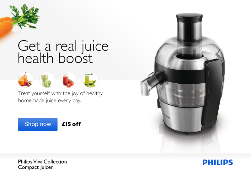 Get a real juice health boost visualdesign kindle 2014 clean design