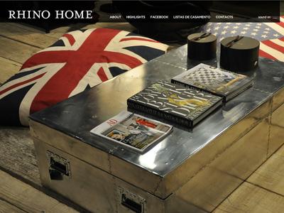 Rhino Home Store ux animation uiux ui webdesign flash 2010