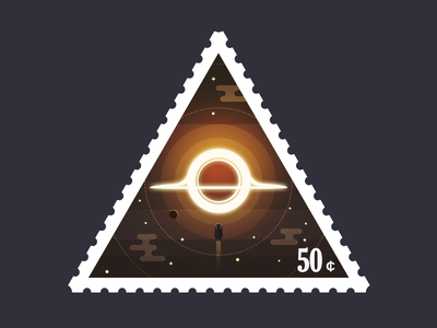 Triangular Stamp Black Hole