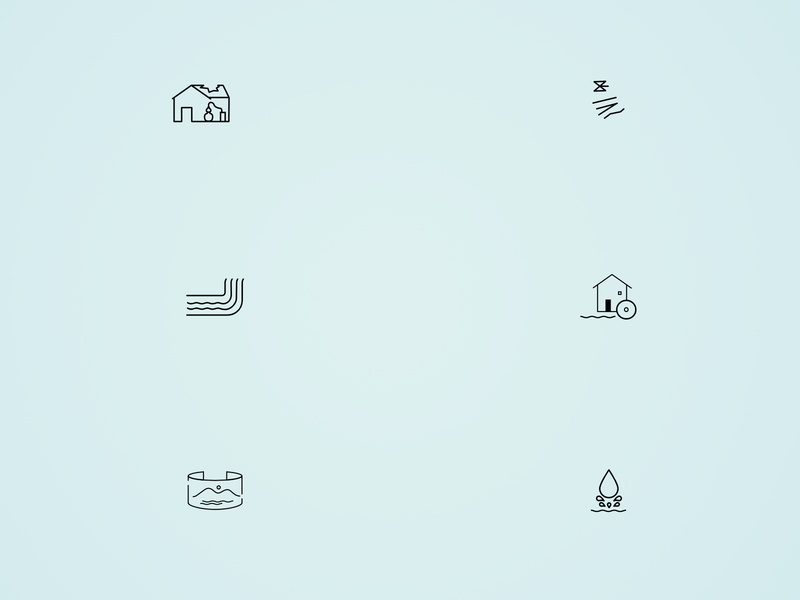 Water related  pictograms for a map icon design illustration design vector affinity designer pictograms