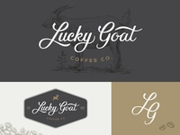 Lucky Goat Coffee Logo Set