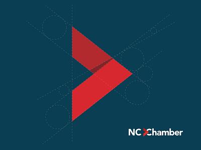 North Carolina Chamber Branding identity golden ratio arrow mark chamber branding logo