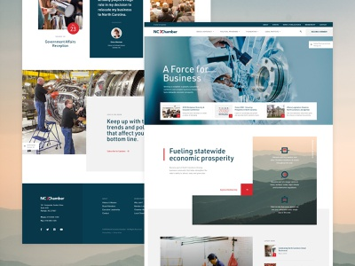 North Carolina Chamber Website business chamber website ui layout interface homepage