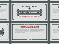 Holiday Ornament Header Cards