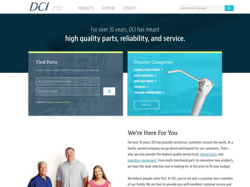 DCI Online front end design front end dev uxd design ui web design ux
