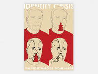 Identity Crisis portraits drawing wacom poster graphic design