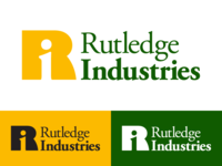Rutledge Industries graphic  design typogaphy vector logo design