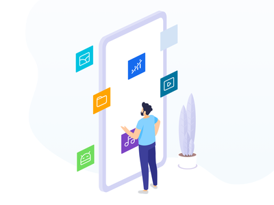 Mi Drop Support for multiple types of file transfers people transfers files illustrations illustration design icon app design ui