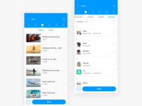 Mi Drop Select Videos and Contacts