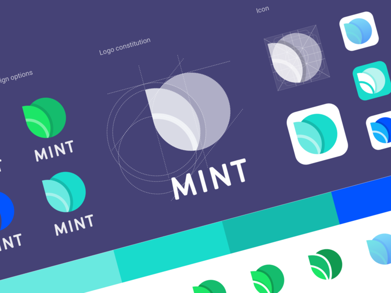 Mint launcher logo lunch mint illustration design design icon logo