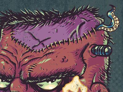 Horrific Halitosis detail monster frankenstein tentacle