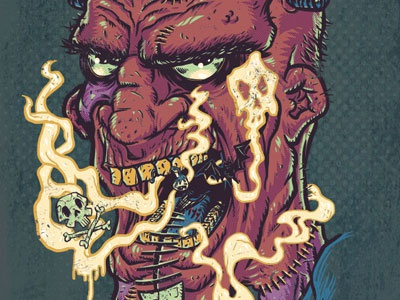 Horrific Halitosis monster frankenstein skulls bad breath