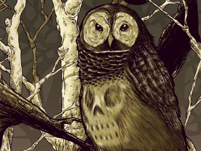 Nite Owl owl bowler hats skull sinister birds
