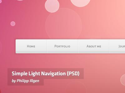 Simple Light Navigation navigation freebies goodies menu