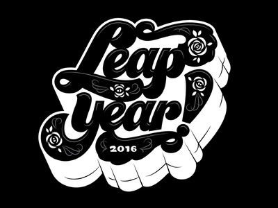 February 29th, what! leapyear handlettering typography lettering
