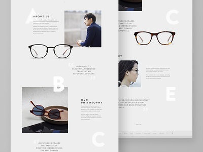 Eyewear Website - About Page