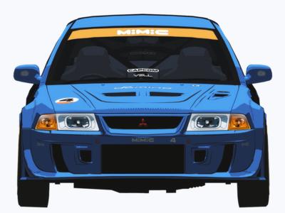 Auto Modellista Mitsubishi Evo 6