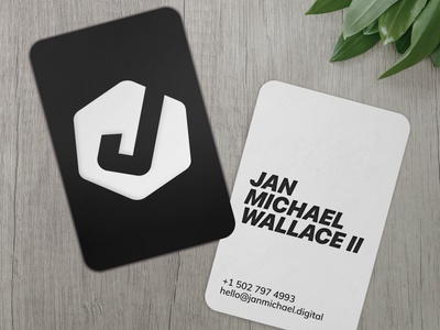 Digital Business Card vector design branding logo