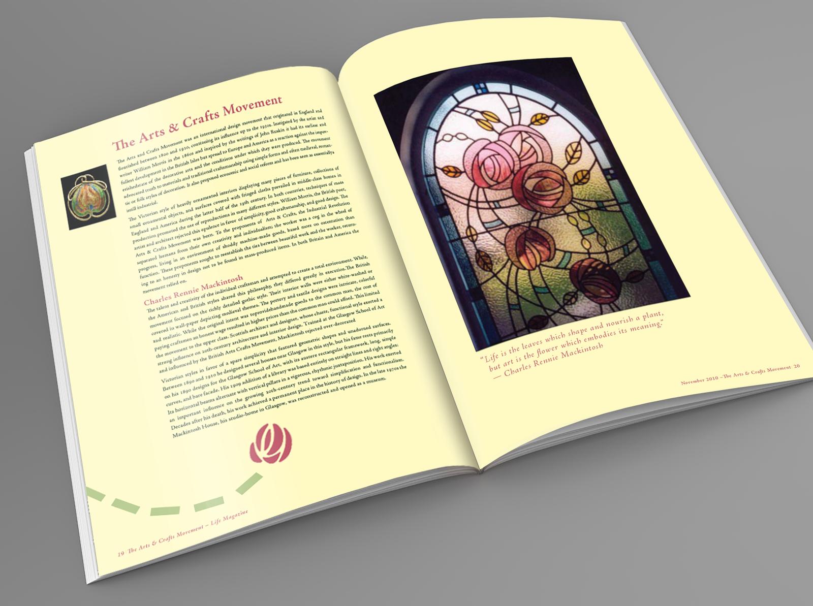 Arts And Craft Movement Magazine Spread By Nicholas Navarro On Dribbble