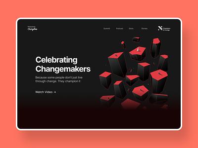 Champions of Change - Landing Page change champion illustrator layout motion graphics branding graphic design layout design logo web design ui design illustration