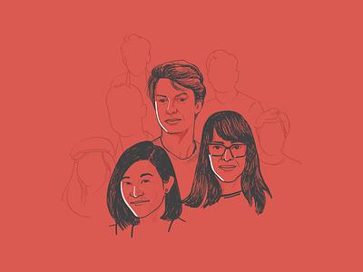Portrait Illustration for Relay Banner.