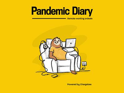Pandemic Diary - Comic Strip character design sloth comic cartoon characters illustration