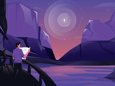 Banner Illustration for Landing Page. visual design layout design web design characters ui design illustration
