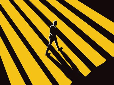One Step Closer Today - Poster Design print design layout design poster design graphic design characters illustration