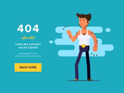 404 Page Not Found! adheedhan fun ui practising landing page illustration page not found 404 wolvering