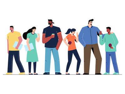 People! office illustration team people